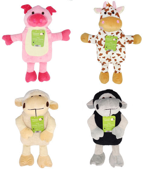 Kids Childrens Hot Water Bottle with an animal shaped cover