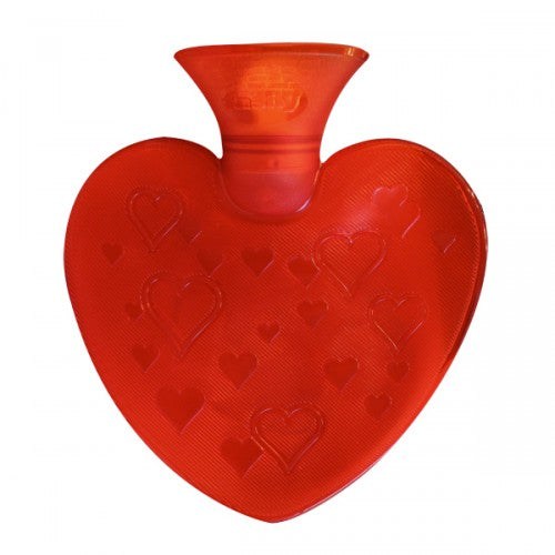 fashy red love heart shape hot water bottle