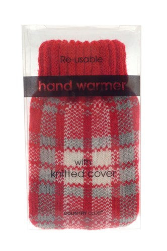 hand warmer with knitted cover