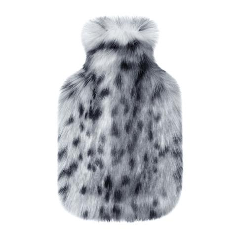 hot water bottle with a luxury faux fur cover