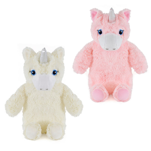 Kids hot water bottle with unicorn cover