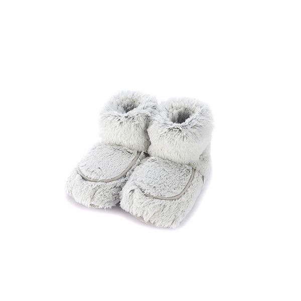 microwave plush fur slipper boots