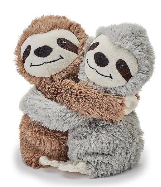 sloth twins microwave warmies hugs