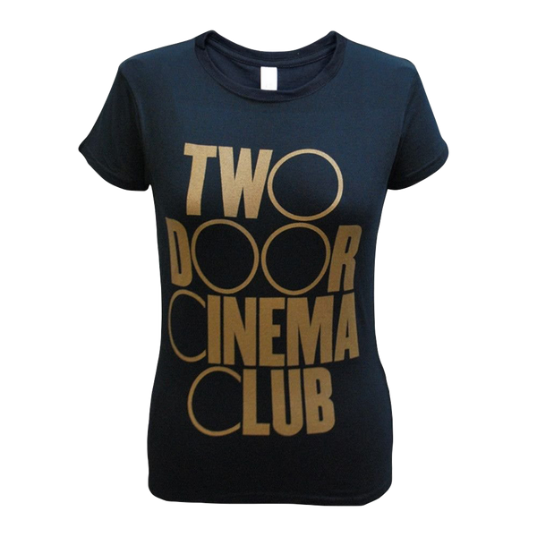 Logo Gold Ladies Black T-Shirt