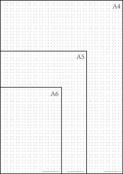 picture about Bullet Journal Dot Grid Printable called No cost Printable Dot Grid Paper for Bullet Magazine September