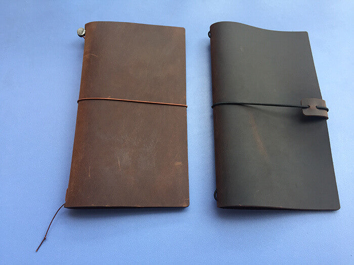 Traveler's Notebook: Midori vs Fauxdori (September Leather)
