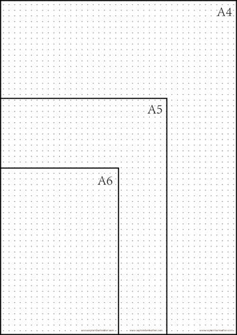 image regarding A4 Printable Paper identified as Cost-free Printable Dot Grid Paper for Bullet Magazine September