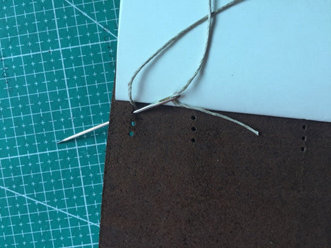 tutorial - make a leather journal 34