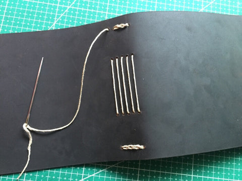 tutorial - make a leather journal 40