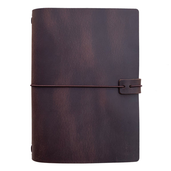 A5 Travelers Notebook - Dark Brown