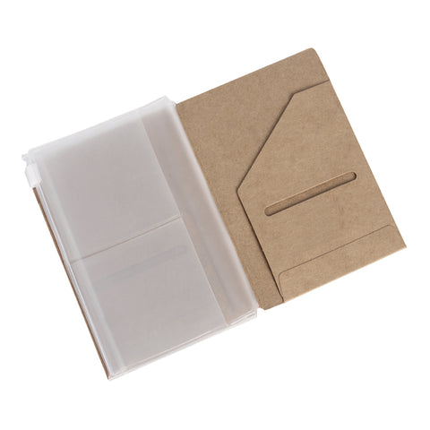 Kraft Folder & Zipper Pouch Pack - Pocket Size