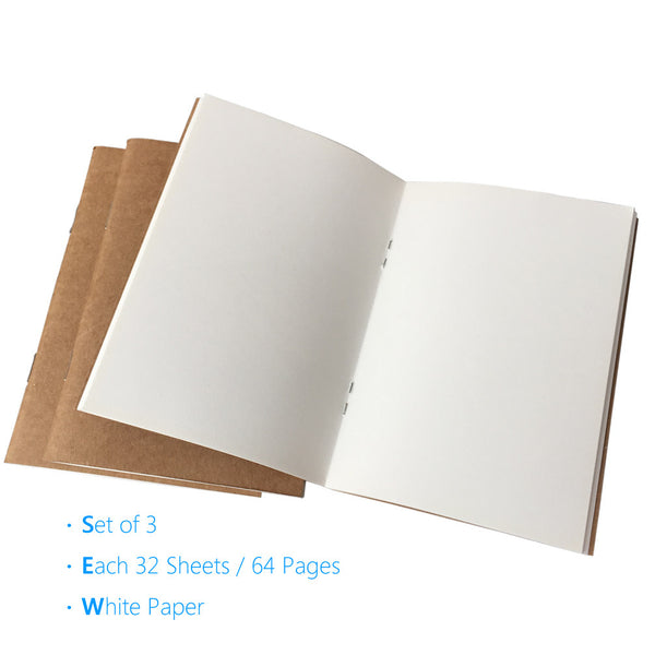 Blank Traveler's Notebook Inserts - Passport Size