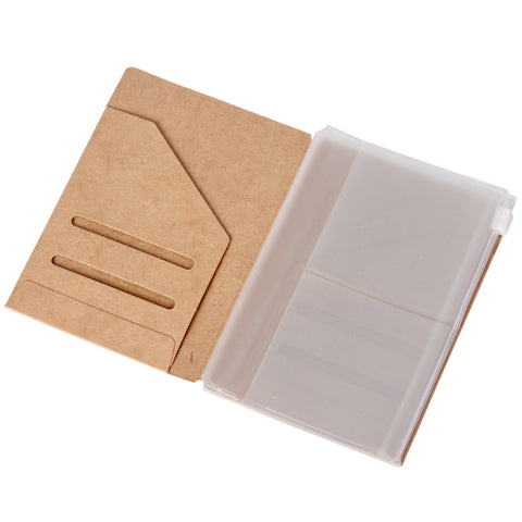 Kraft Folder & Zipper Pouch Pack - Passport Size