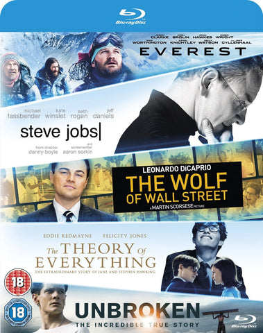 Everest / Steve Jobs / Wolf Of Wall Street / Theory Of Everything/... [Blu-ray]