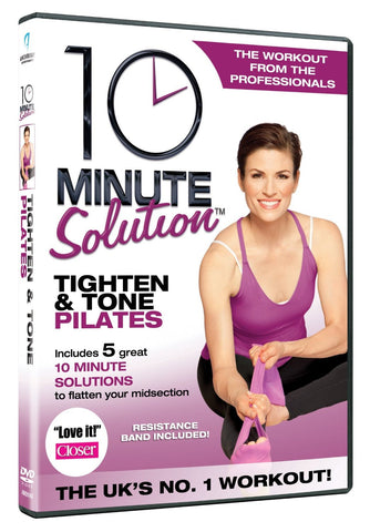10 Minute Solution Tighten And Tone Pilates with Band [DVD]
