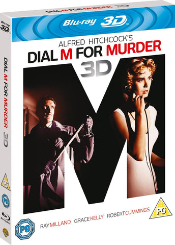 Dial M for Murder (Blu-ray 3D + Blu-ray) [1954] [Region Free]