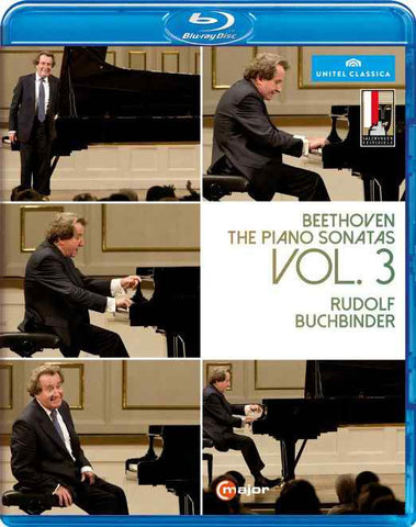 Beethoven:Piano Sonatas 3 [Rudolf Buchbinder] [C MAJOR ENTERTAINMENT: BLU RAY] [DVD]
