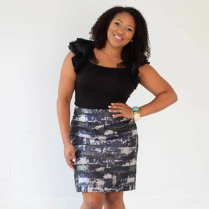 Brick House Navy Custom Skirt