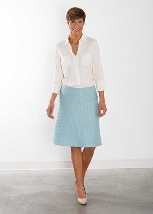 Chuck Powder Blue Custom Pencil and A-line Skirt