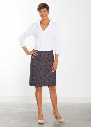 Laurie Leaf Navy Custom Pencil Skirt