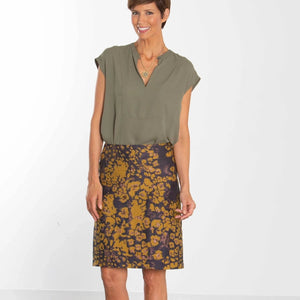 Sri Lanka Mustard Custom Pencil Skirt