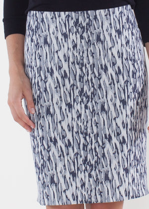 Sheath Dress - Camo Navy