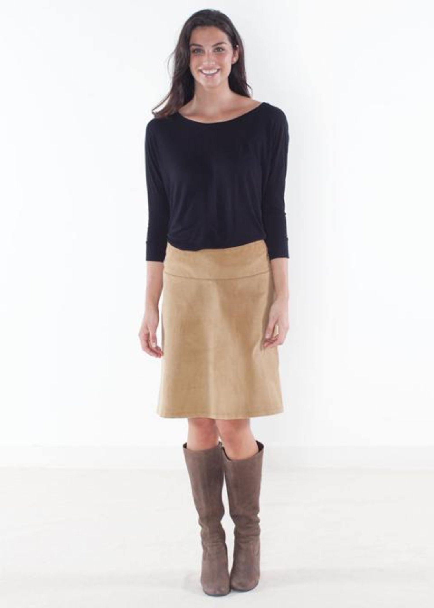 Tan Corduroy Custom Skirt