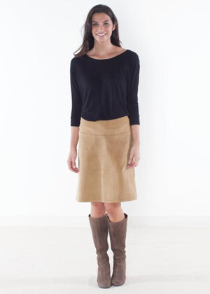 Tan Corduroy Custom Pencil and Aline Skirt