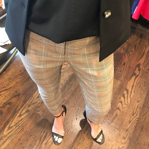 Brown and Mustard Glen Plaid Pants