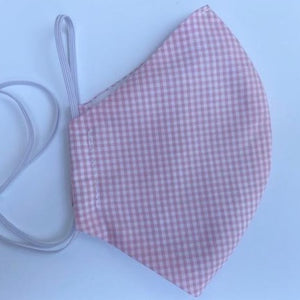 Light Pink Gingham Mask