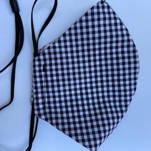 Navy Gingham Mask
