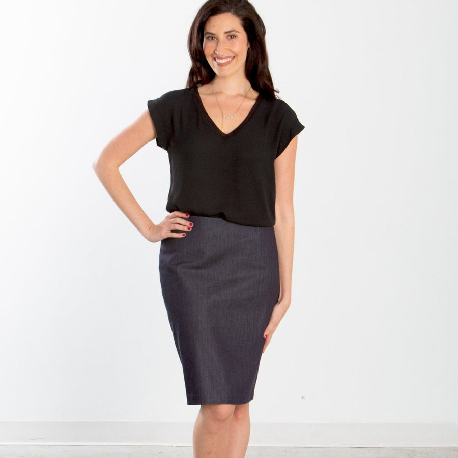 Mullen Dressy Denim Custom Pencil Skirt