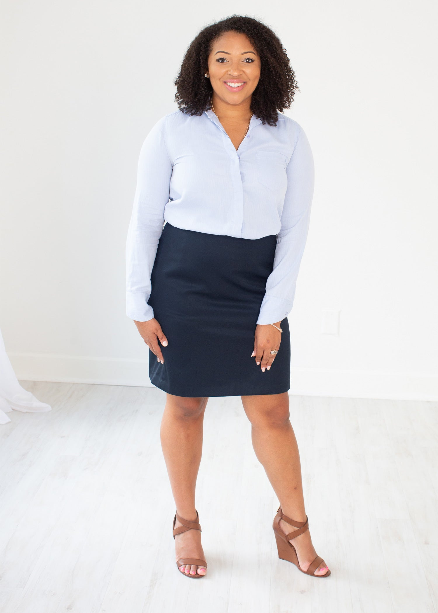Essential Super Wool Collection Navy Custom Skirt