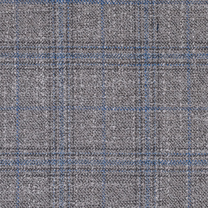 Bamboo Grey and Blue Plaid