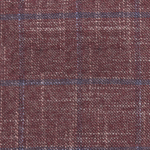 Bamboo Cranberry and Blue Plaid