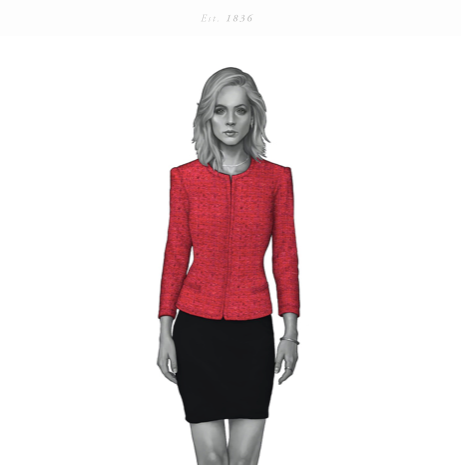 Red Boucle Dress