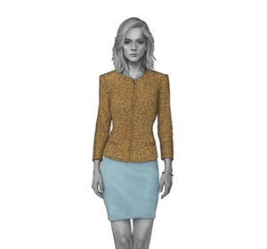 Mustard Boucle Dress
