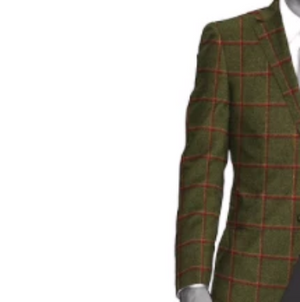Sherry Tweed Olive & Red Jacket