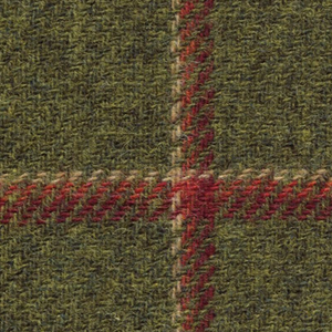 Sherry Tweed Olive & Red Skirt