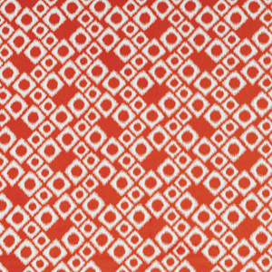 Fire Orange Geometric Stretch Brocade