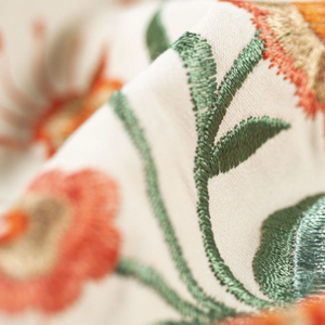 Orange Blooms Embroidery Skirt
