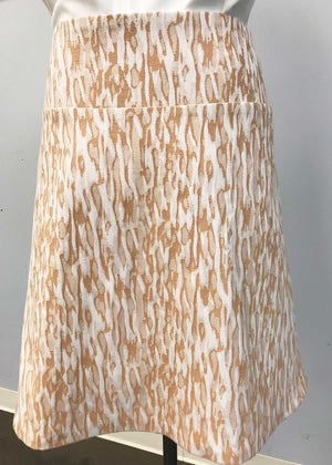 Camo Beige Brocade Custom Skirt