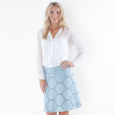 Webb Powder Blue Custom Skirt