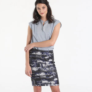 Brick House Navy Skirt