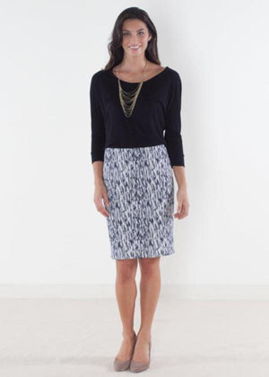 Camo Navy Brocade Custom Skirt