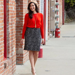 Chenille Leopard Custom Pencil Skirt