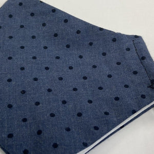 Navy with Black Polka Mask