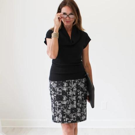 Black Tweed Skirt