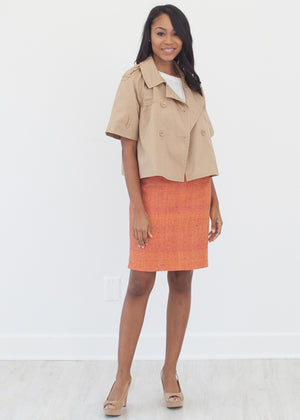 Nigeria Rust Custom Pencil Skirt