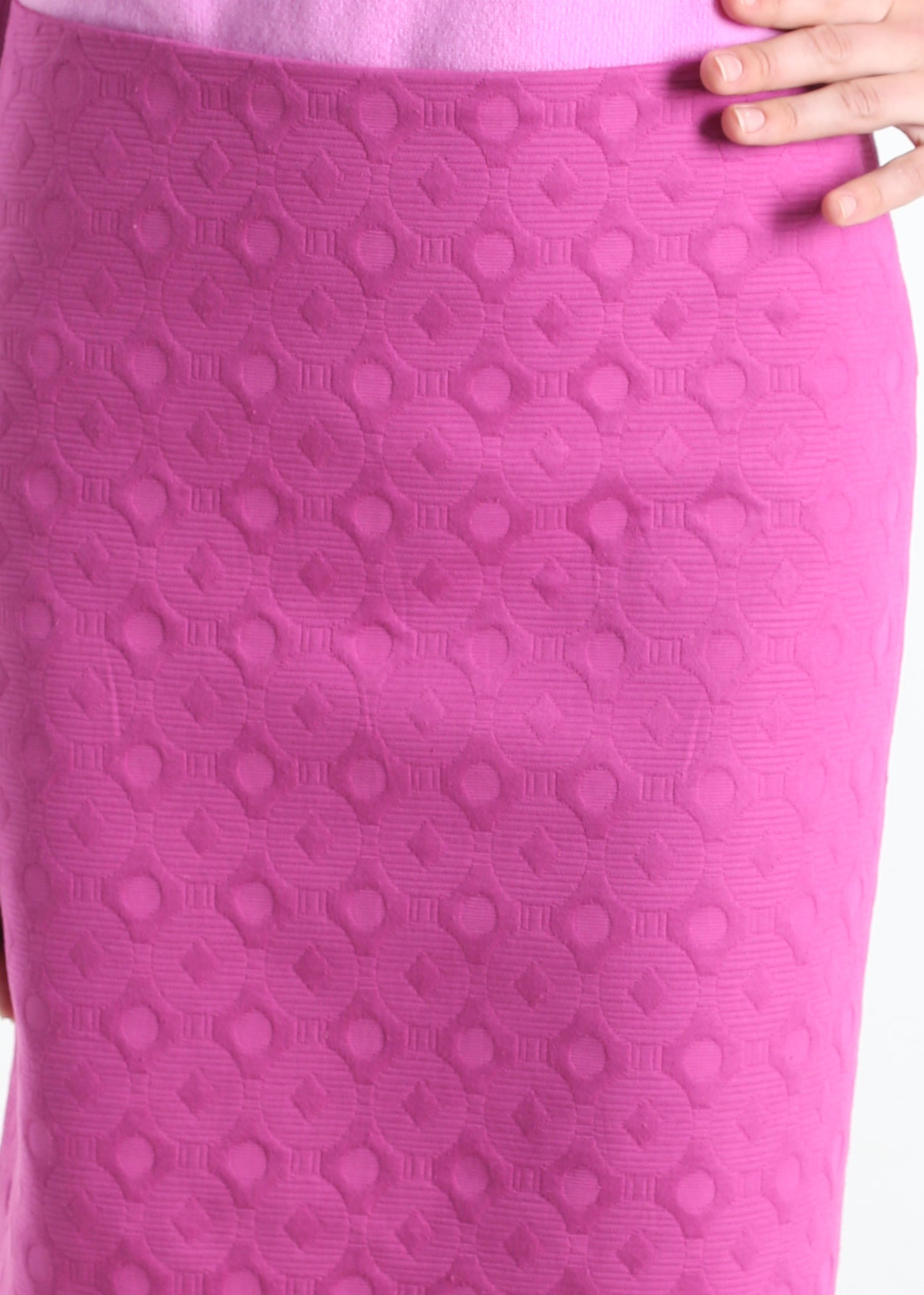 Patterson Cotton Magenta Custom Skirt